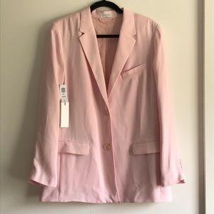 Aritzia Babaton Demy Blazer in Chalk Pink